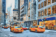 New York Digital Art Metal Prints - New York 2 Metal Print by Yury Malkov