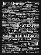 East Coast Digital Art Posters - New York 20130709bw Poster by Wingsdomain Art and Photography