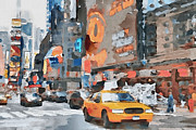 Stock Trade Prints - New York 6 Print by Yury Malkov