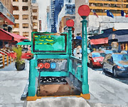 Live Art Digital Art Prints - New York 8 Print by Yury Malkov
