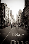 5th Ave Photos - New York at Dusk by Binsar Marseto