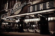 New York At Night - Brooklyn Diner - Sepia Print by Miriam Danar