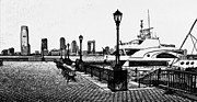 New York Digital Art Metal Prints - New York Black and White 6 Metal Print by Yury Malkov