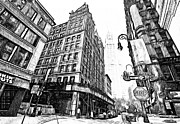 New York Digital Art Metal Prints - New York Black and White 9 Metal Print by Yury Malkov
