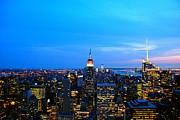New York By Night Print by Eric Dewar