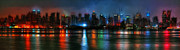 Colorful Landscape Paintings - New York by night by Stefan Kuhn