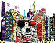 Nyc Mixed Media - New York Chihuahua by Brian Buckley