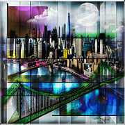 Schuenman Mixed Media - New York by Christine Mayfield