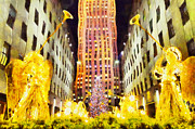 Devine Manger Prints - New York Christmas Print by George Rossidis