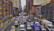 Cities Digital Art Metal Prints - New York City 23 Metal Print by Yury Malkov