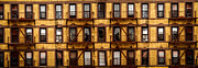 Fire Escape Metal Prints - New York City apartment building study Metal Print by Amy Cicconi