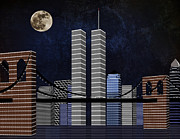 Twin Towers World Trade Center Prints - New York City Better Days Print by Andee Photography