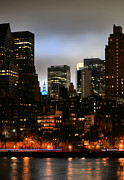 Skylines Metal Prints - New York City Blue Metal Print by JC Findley