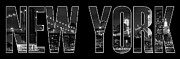 Letter Posters - NEW YORK CITY Brooklyn Bridge bw Poster by Melanie Viola