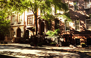 Nyc Street Framed Prints - New York City Brownstones in the Sun Framed Print by Vivienne Gucwa