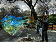 Street Performers Prints - New York City - Central Park 002 Print by Lance Vaughn