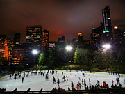 Ice Skating Photos - New York City - Central Park 005 by Lance Vaughn