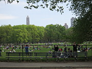 Fountains Prints - New York City - Central Park - 121224 Print by DC Photographer