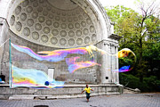 Outdoor Theater Framed Prints - New York City - Central Park Bubble Chasing Framed Print by Russell Mancuso