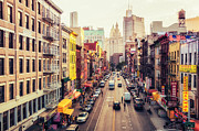Nyc Photo Framed Prints - New York City - Chinatown Street Framed Print by Vivienne Gucwa
