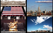 Photo Collage Prints - New York City Collage Print by John Rizzuto