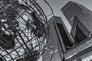 Steel Sculpture Framed Prints - New York City Columbus Circle Landmarks II Framed Print by Clarence Holmes