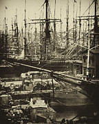 Old Photos Prints - New York City Docks - 1800s Print by Paul W Faust -  Impressions of Light