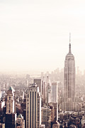 Skylines Metal Prints - New York City - Empire State Building Metal Print by Vivienne Gucwa