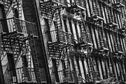 New York City Fire Escapes Posters - New York City Fire Escapes  Poster by John McGraw