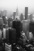Skylines Metal Prints - New York City - Fog and the Chrysler Building Metal Print by Vivienne Gucwa