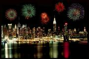 Nyc Cityscape Posters - New York City Fourth of July Poster by Anthony Sacco