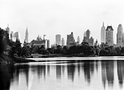 Central Park Digital Art Prints - New York City from Central Park 1931 Print by Digital Reproductions
