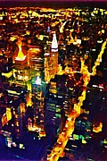 Malone Posters - New York City From the Empire State Building Poster by John Malone JSM Fine Arts