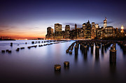 Brooklyn Bridge Prints - New York City Print by Geoffrey Gilson