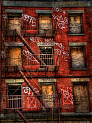 Brick Acrylic Prints - New York City Graffiti Building Acrylic Print by Amy Cicconi