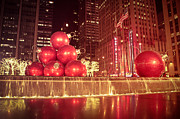 Vivienne Gucwa Prints - New York City Holiday Decorations Print by Vivienne Gucwa