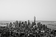 Black And White City Prints - New York City Print by Linda Woods