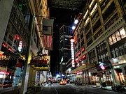 Taxis Photos - New York City - Manhattan Mall by Lance Vaughn