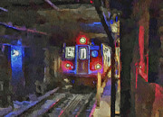 Cities Digital Art Metal Prints - New York City Metro 2 Metal Print by Yury Malkov