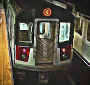 Cities Digital Art Metal Prints - New York City Metro Metal Print by Yury Malkov