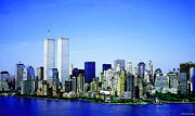 Twin Towers Digital Art Metal Prints - New York City - Never Forget Metal Print by Sharon Cummings