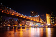 Skylines Metal Prints - New York City - Night Lights Metal Print by Vivienne Gucwa