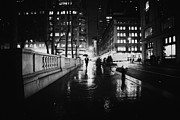 Nyc Street Framed Prints - New York City - Night Rain Framed Print by Vivienne Gucwa