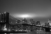 Broker Photos - New York City Nightscape  by Louis Scotti