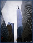 Featured Digital Art Acrylic Prints - New York City One world Trade Center Acrylic Print by Janette  Degrasse