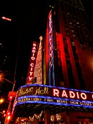 Music Icon Photo Prints - New York City - Radio City Music Hall 001 Print by Lance Vaughn
