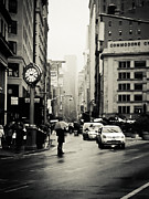 New York City Rain Prints - New York City - Rain - 5th Avenue Print by Vivienne Gucwa
