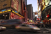 City Scape Metal Prints - New York City Rush Metal Print by Donna Blackhall