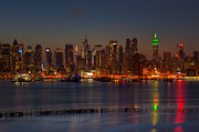 March Photos - New York City Saint Patricks Day Skyline I by Clarence Holmes