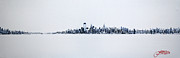 New York State Paintings - New York City Skyline 12x36-2 by Jack Diamond